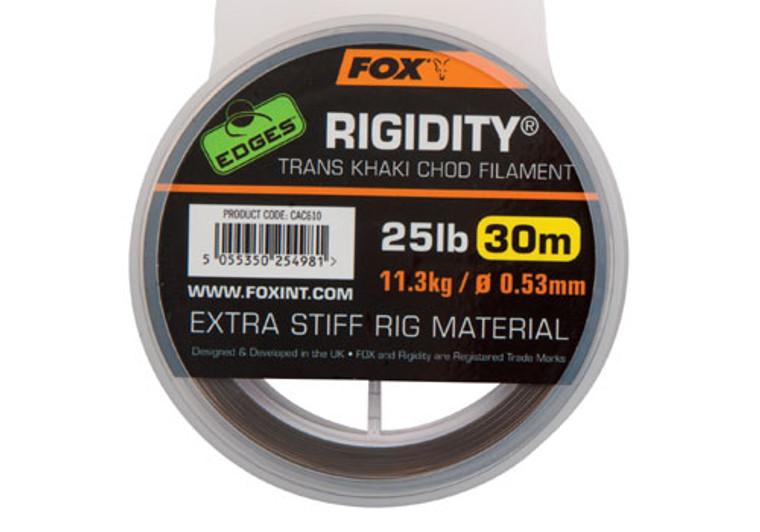 Fox Rigidity 25lb 30m Trans Khaki Chod Filament