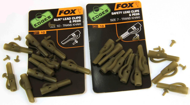 Fox Edges Lead Clip and Pegs Size 10 - Keen's Tackle and Guns