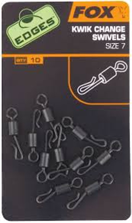 Fox Edges Kwik Change Swivels Size 10 x 10  - Keen's Tackle and Guns