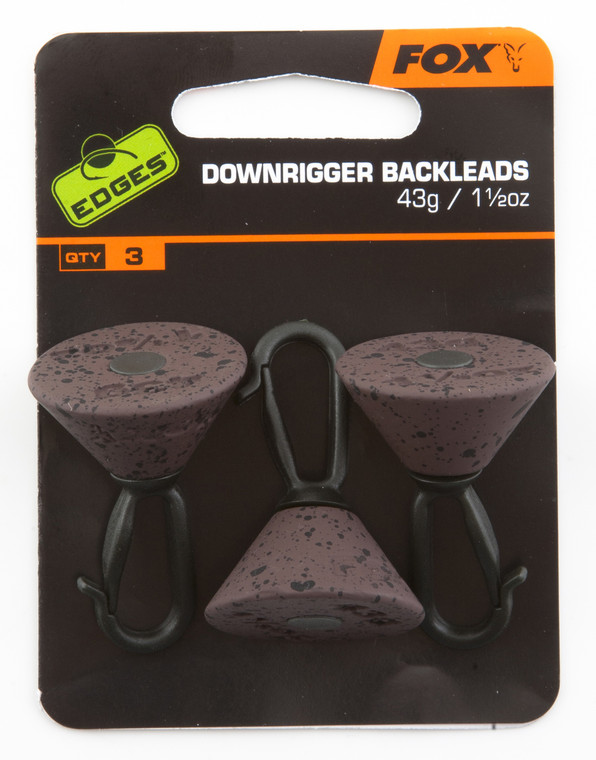 Fox Edges Downrigger Backleads 43g x3 - Keen,s Tackle and Guns