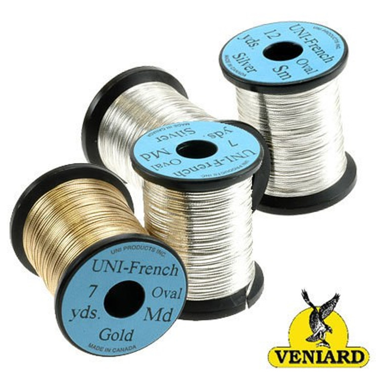 Uni French Oval Silver 7yds Medium Fly Tying Material