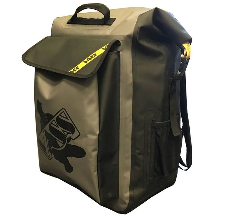 Vass Dry Rucksack 40l Titanium Grey and Black with Fold over seal' entry at top of bag