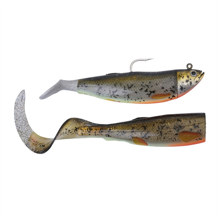 Savage Gear Cutbait Herring Paddle and Curl Tail Combo Pack - 3D Burbot