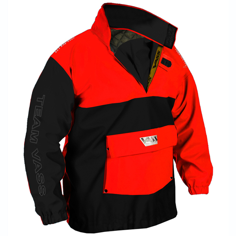 Team Vass 175 Winter Edition Smock Black and Red Ultra Waterproof and windproof