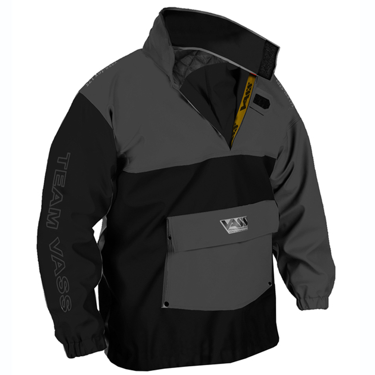 Team Vass 175 Winter Edition Smock Black and Grey Ultra Waterproof and windproof