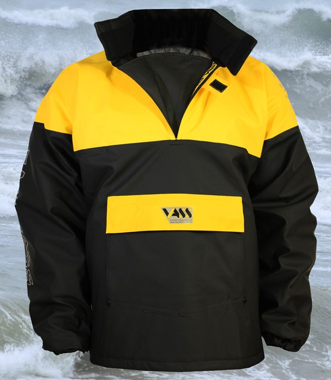 Team Vass 350 Winter Edition Smock Black and Yellow is Ultra Waterproof and windproof