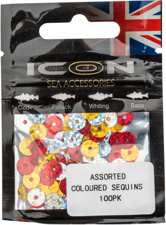 ICON Assorted Coloured Sequins (100pk)