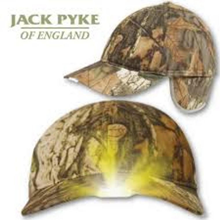 Jack Pyke Camo Wildfowlers Cap X5 Built in LED Lights