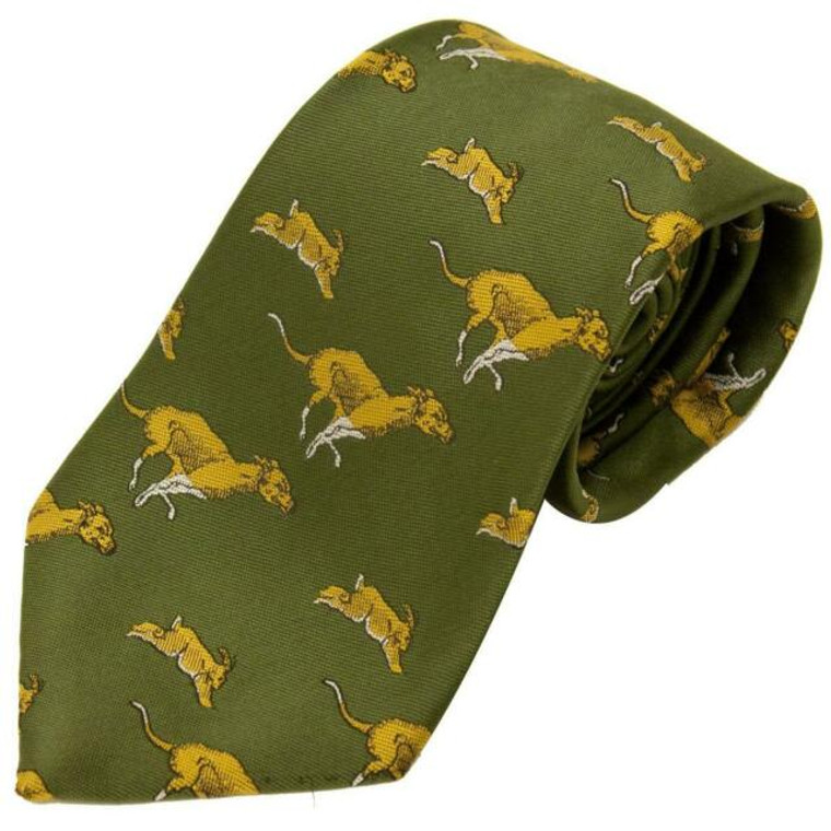Bisley Hare and Hound Polyester Tie - Green