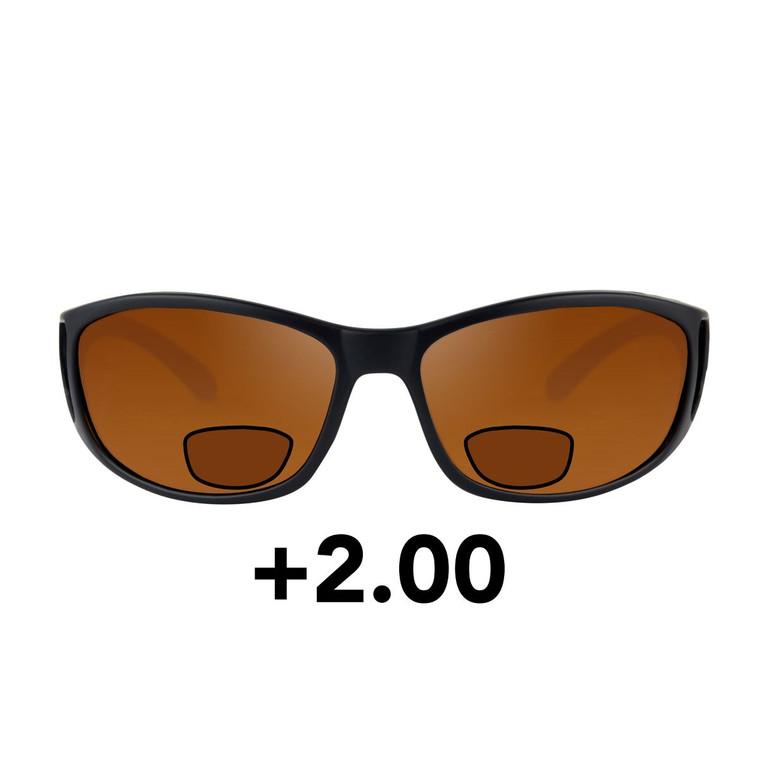 Fortis Wraps Polarised Sunglasses - Bifocal +2.00