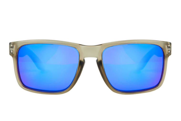 Fortis Bays Polarised Sunglasses - Brown Lens with Blue XBlok