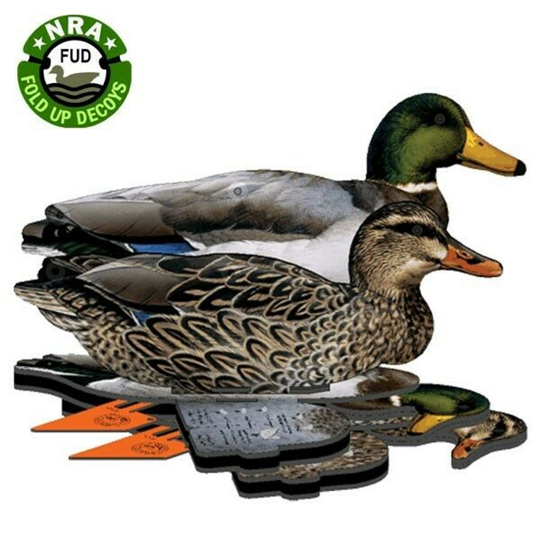 NRA FUD - Fold Up Decoys  - Mallard 6 Pack