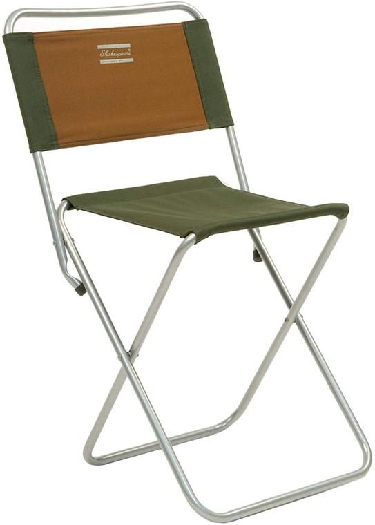Shakespeare Backrest Folding Fishing Chair/Stool