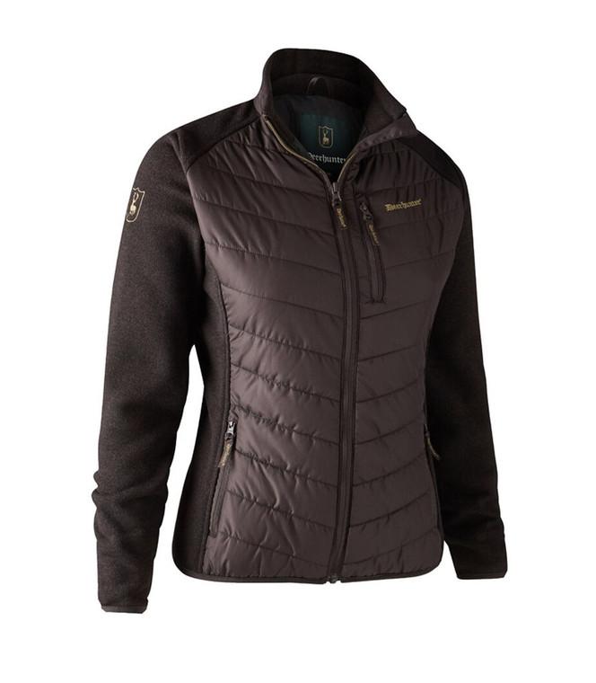 Deerhunter lady Caroline padded jacket with knit sleeves