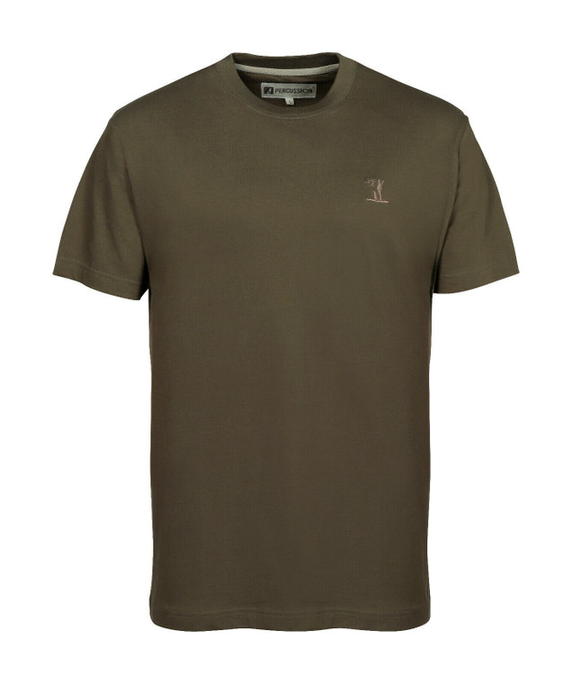 Percussion Plain T-Shirt With Logo