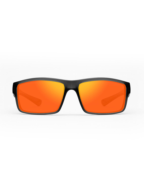 Fortis Junior Bays Polarised Sunglasses - Brown Lens with Fire XBlok