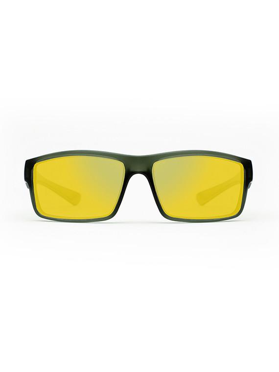 Fortis Junior Bays Polarised Sunglasses - Green / Junglist lenses with Gold XBlok