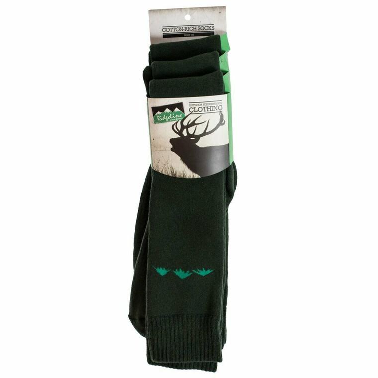 Ridgeline cotton rich 3 pack boot socks