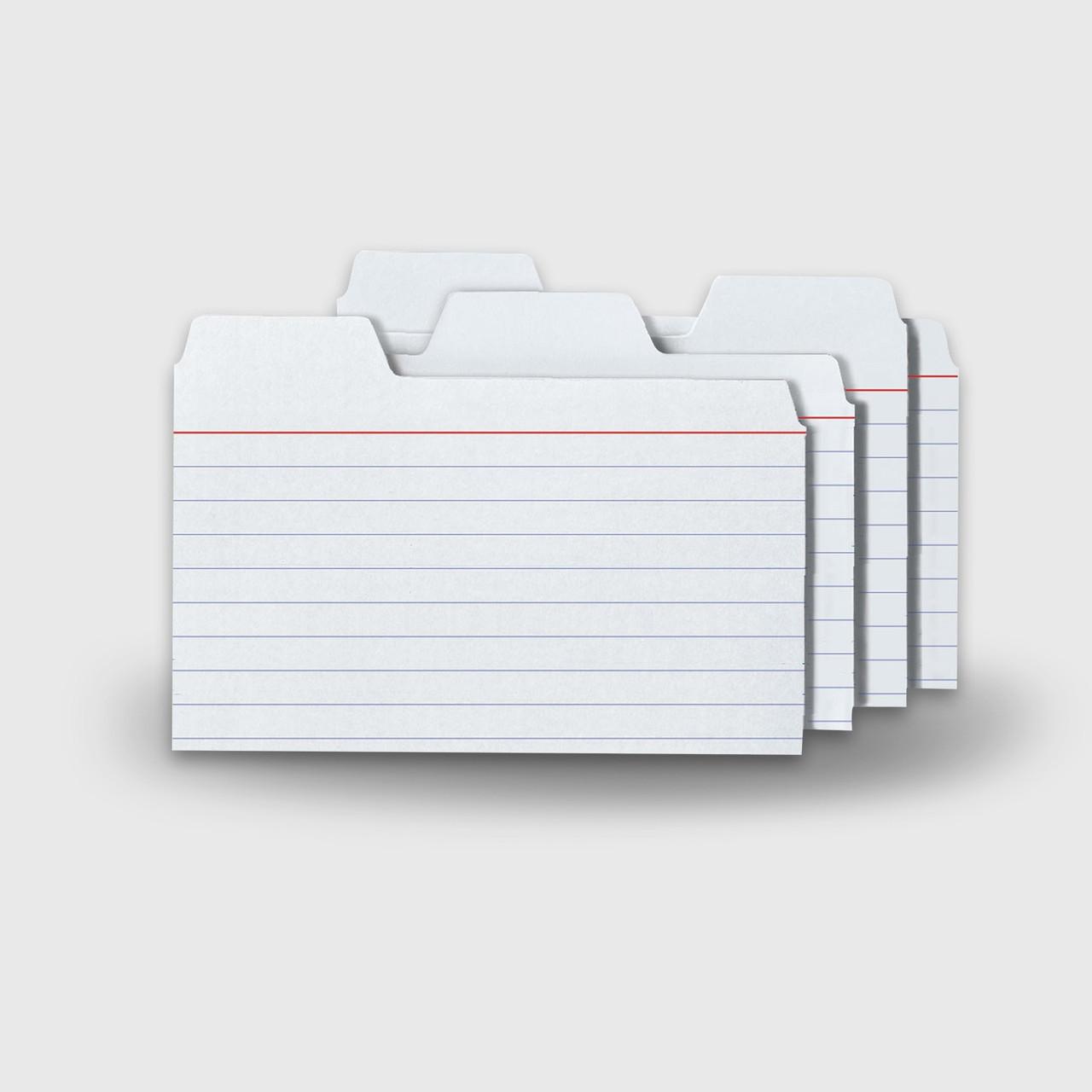 Ruled 200//PK White Tops 10009 Mini Index Cards 7.5 Pt 85 lb