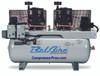 BelAire 4112DL 2x7.5 HP 208-230 Volt Single Phase Two Stage Cast Iron 120 Gallon Duplex Air Compressor