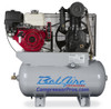 BelAire 4G3HHL 13 HP Honda Two Stage Cast Iron Gasoline Driven 30 Gallon Service Truck Air Compressor