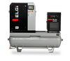 Elgi EN04-150-60T-G2 5 HP 230 Volt Three Phase Rotary Screw  Air Compressor Compressor 60 Gallon Horizontal Tank Mount with Dryer - 150 psi