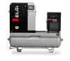 Elgi EN04-125-60T-G2 5 HP 208 Volt Three Phase Rotary Screw  Air Compressor Compressor 60 Gallon Horizontal Tank Mount with Dryer- 125 psi