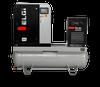 Elgi EN07-125-120T-G2 10 HP 208/230/460 Volt Three Phase Rotary Screw  Air Compressor Compressor 120 Gallon Horizontal Tank Mount with Dryer- 125 psi