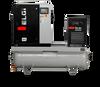 Elgi EN07-150-120T-G2 10 HP 208/230/460 Volt Three Phase Rotary Screw  Air Compressor Compressor 120 Gallon Horizontal Tank Mount with Dryer- 150 psi