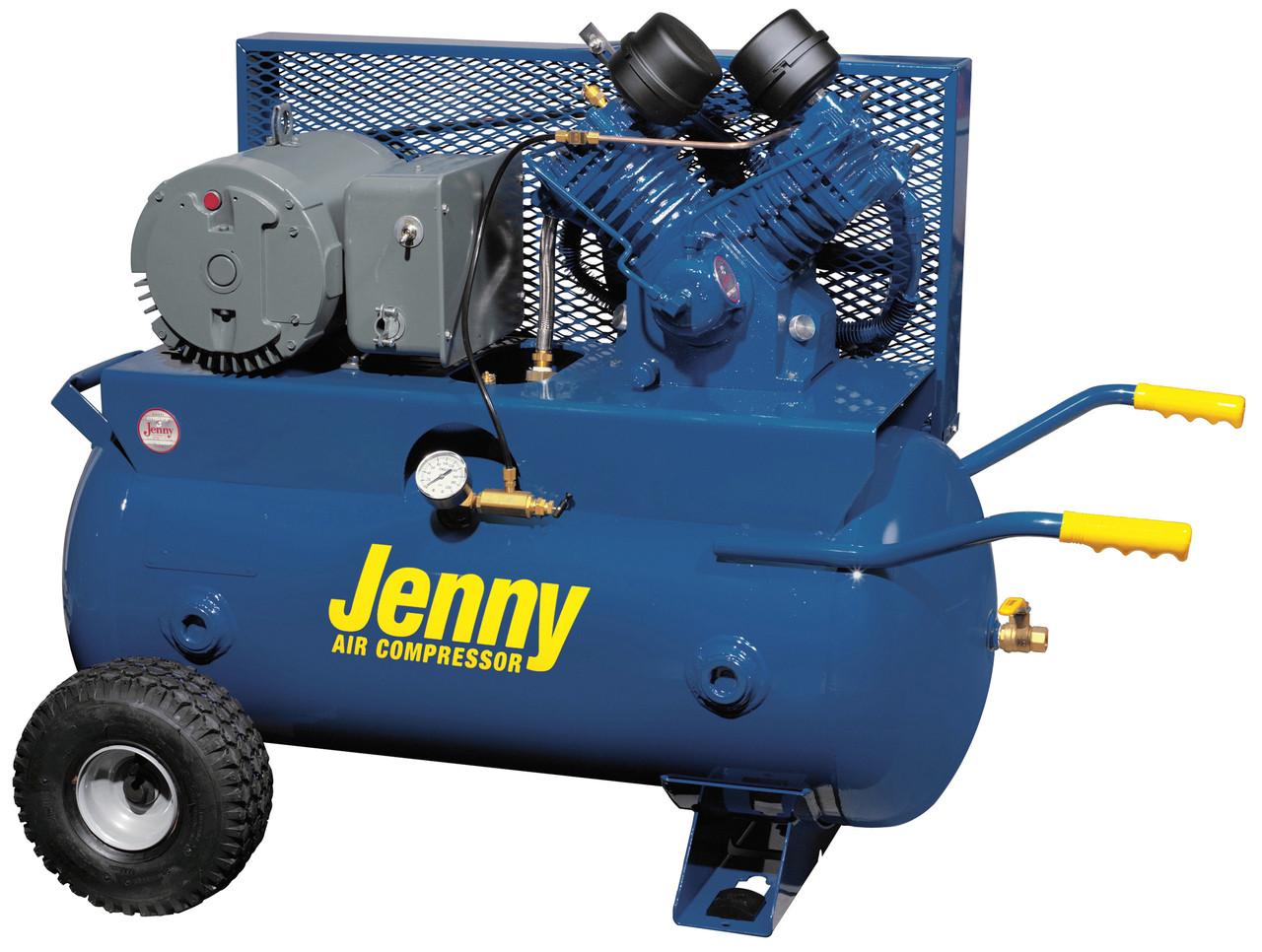 Jenny J5A-30P 230 Volt Single Phase 30 Gallon Portable Air Compressor