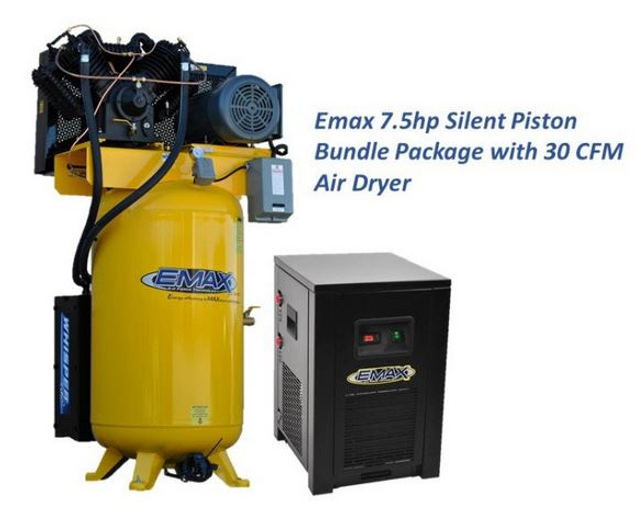 ESP07V080V1PK 7.5 HP Single Phase Air Compressor with Silencer and Dryer