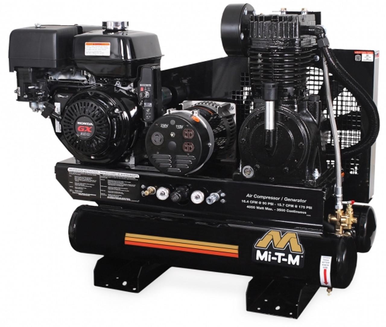Mi-T-M AG2-SH13-08M1 13 HP Honda Powered Twin Tank Air Compressor/Generator Combo