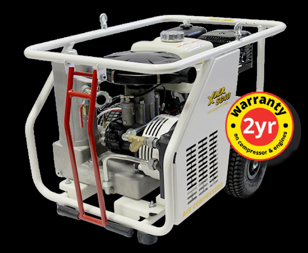 ConX X Air SC40E Compact 43 CFM Engine Driven Rotary Screw Air Compressor