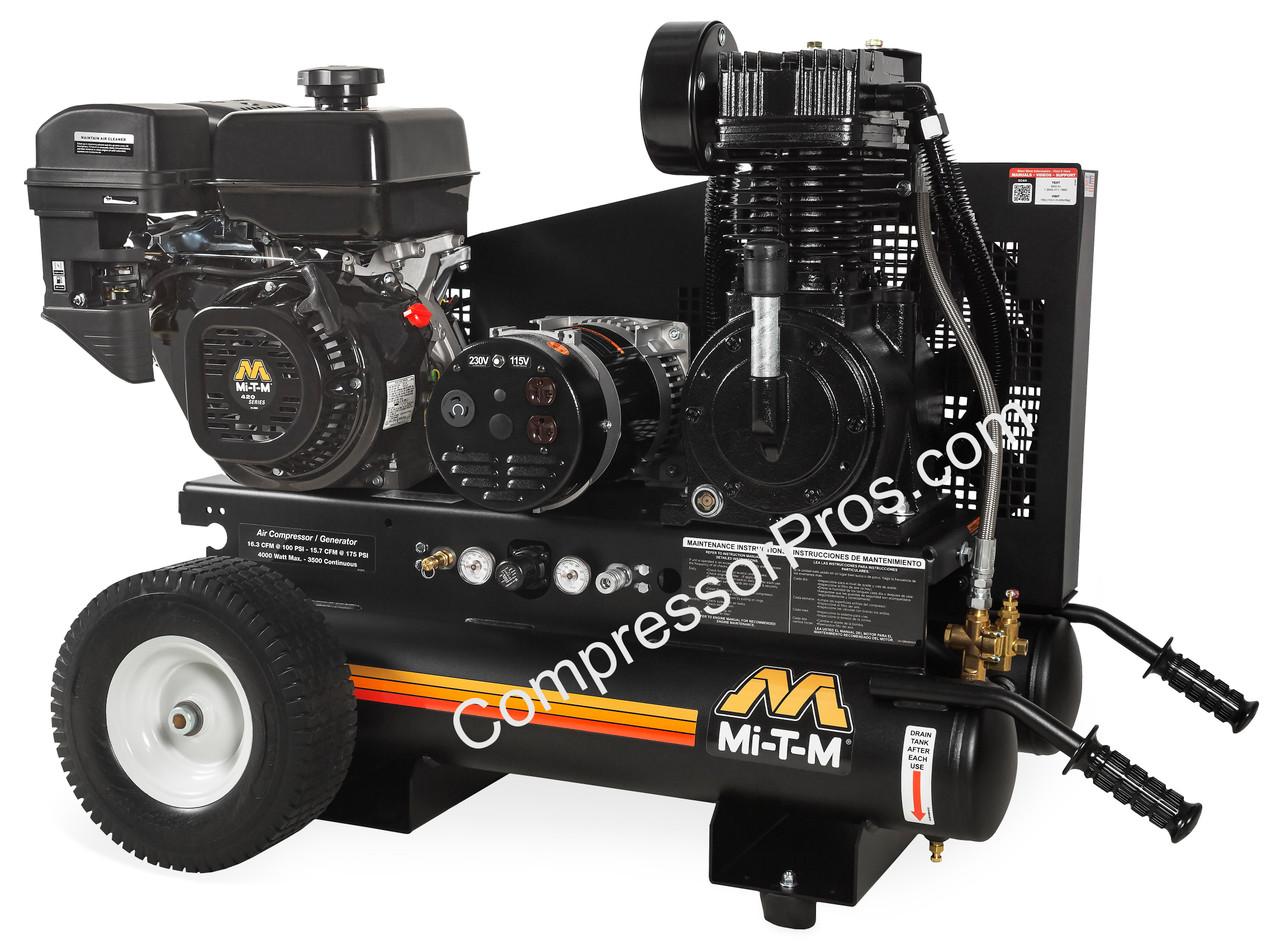 Mi-T-M AG2-PM14-08M1 14 HP Engine Driven Air Compressor/Generator Combo