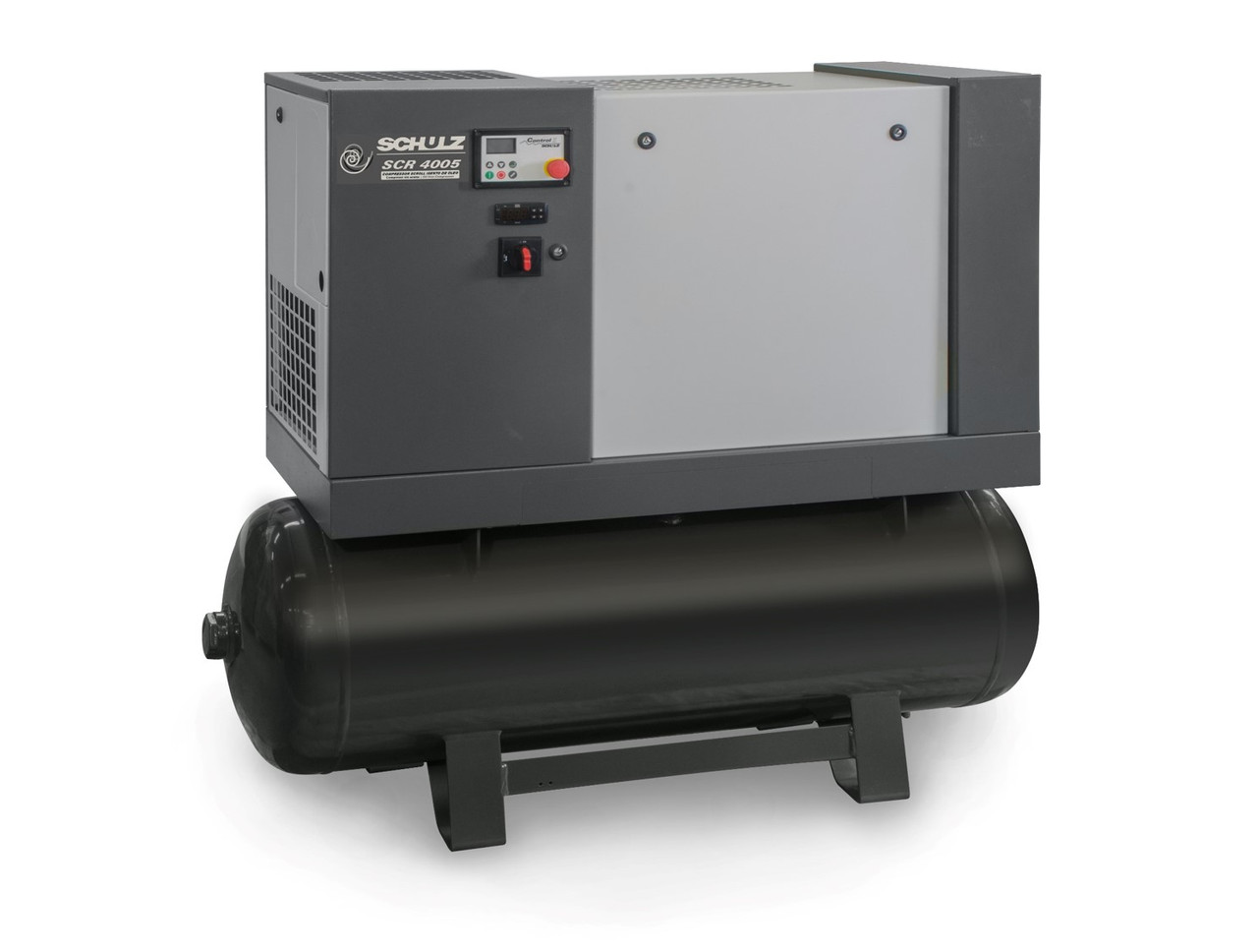 Schulz SCR 4005 TS Oil Free Scroll Air Compressor - 5 HP 208-230 Volt Three Phase, 60 Gallon Horizontal Tank with Pre-Filter and Dryer