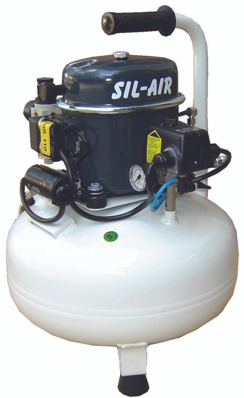 Sil-Air 50-24 1/2 HP 110 Volt 6 Gallon Silent Air Compressor by Silentaire Technologies