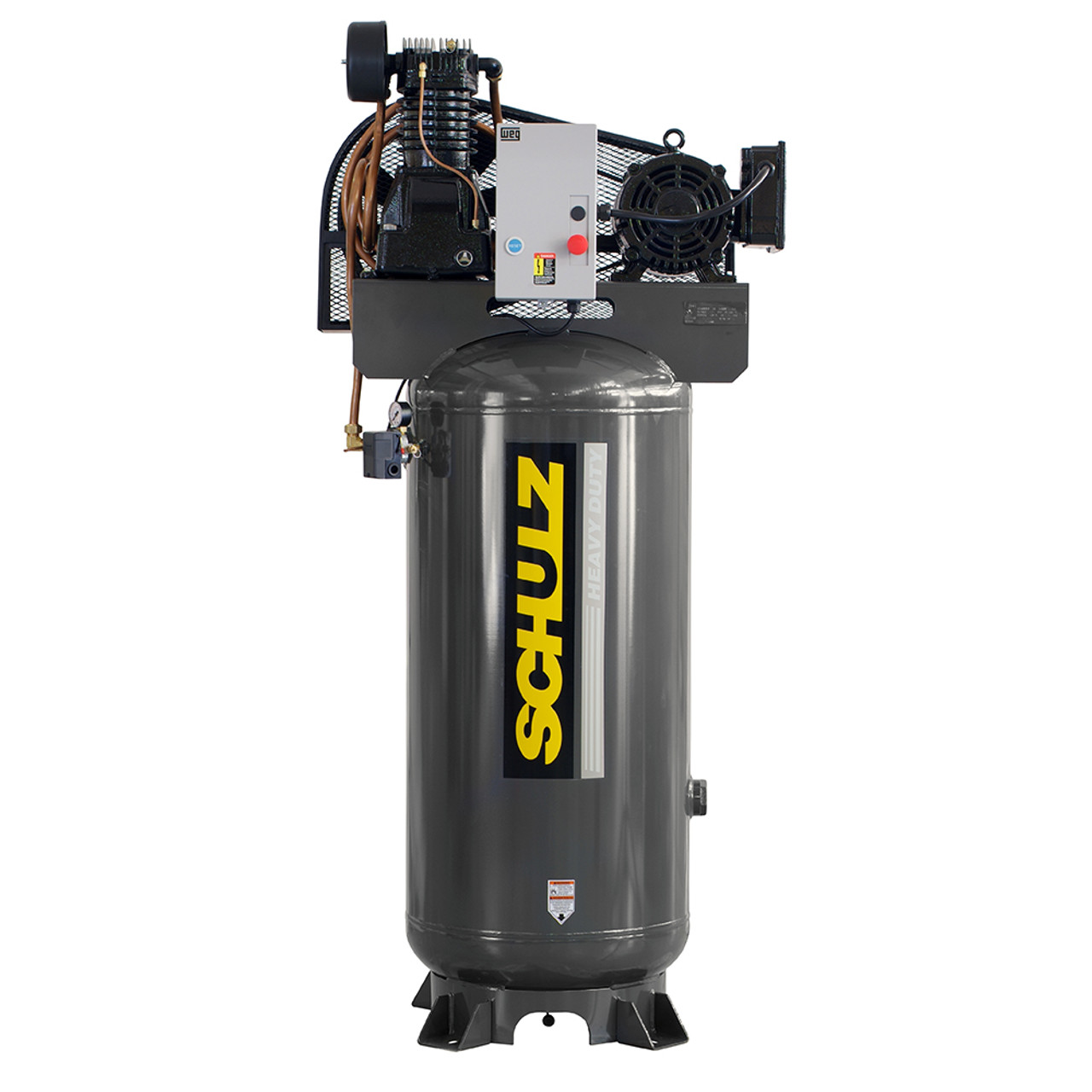 Schulz 580VL30X-1 5HP Single Phase Two Stage 80 Gallon Air Compressor