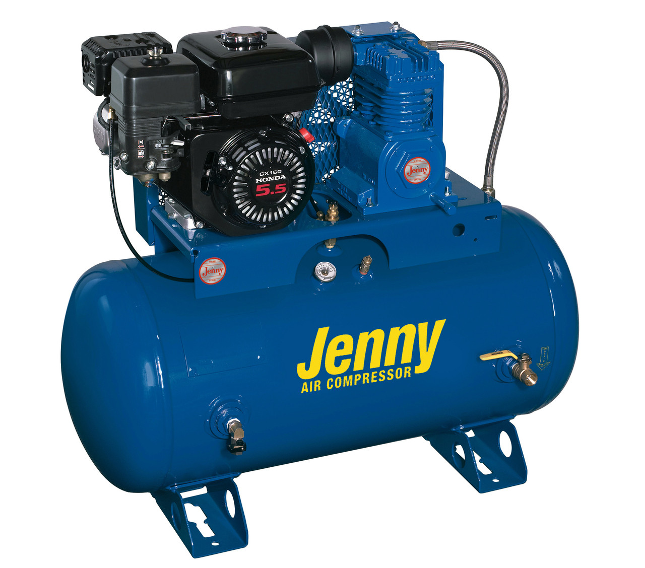 Jenny K5HGA-30T 5.5 HP Gasoline Driven Single Stage 30 Gallon Air Compressor