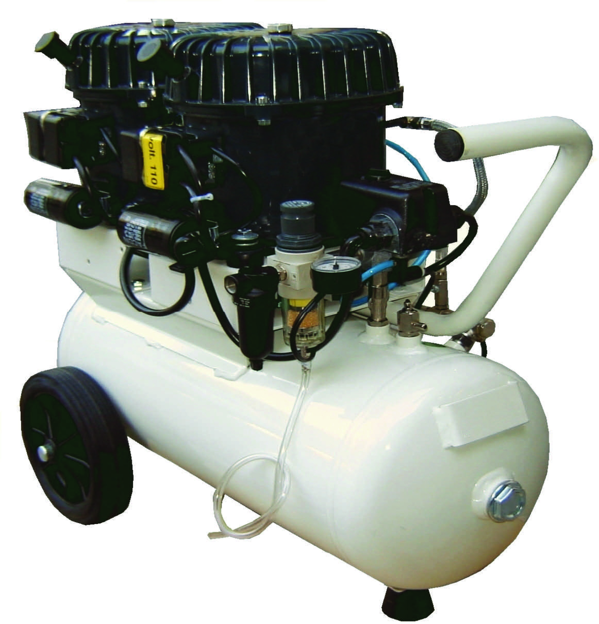 Val-Air 100-24 AL 2 x 1/2 HP Single Phase 6 Gallon Silent Air Compressor by Silentaire Technologies