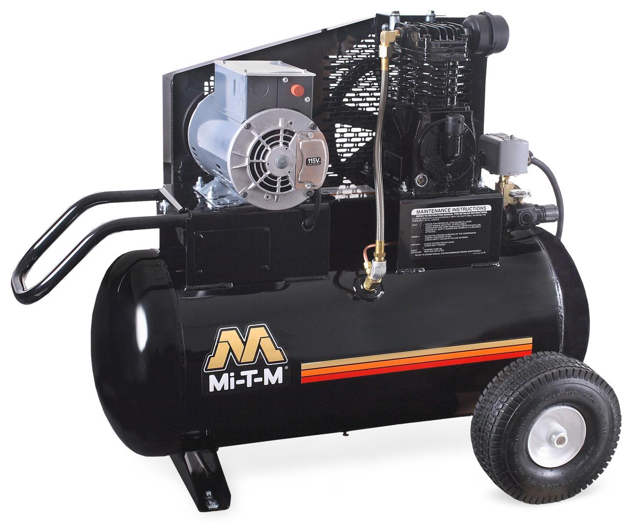 Mi-T-M AM1-PE02-20M 2 HP 120 Volt Single Stage 20 Gallon Portable Air Compressor