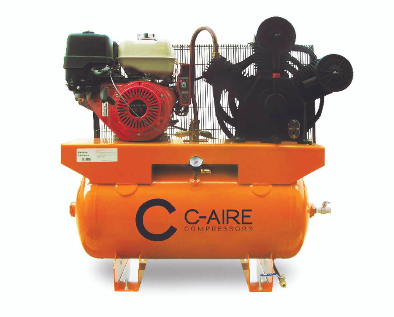 C-Aire A130H030-G 13 HP Honda Gas Drive 30 Gallon Air Compressor