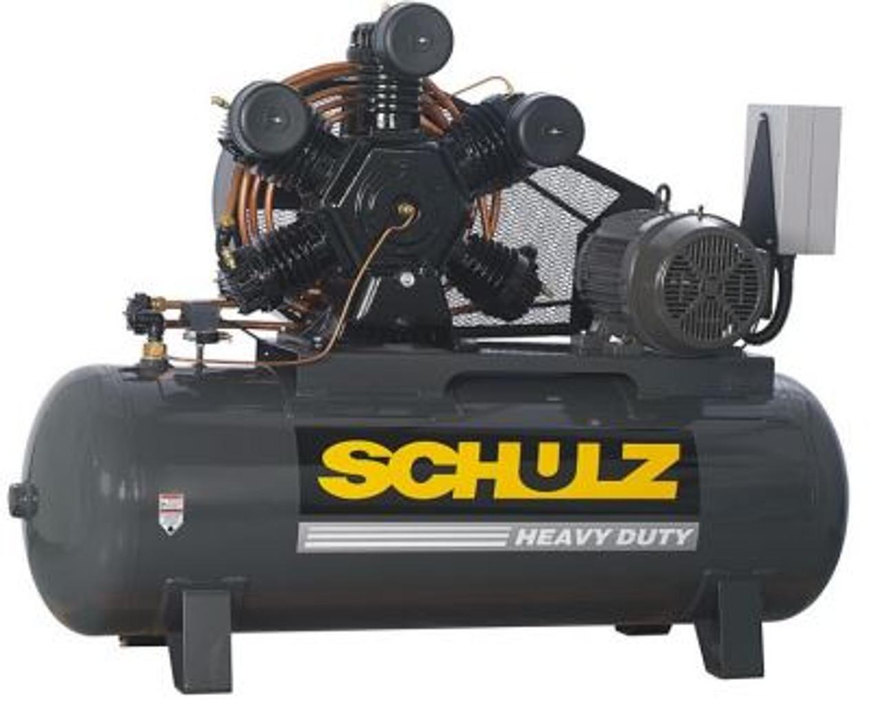 Schulz 20120HWV80X-3 20 HP 208-230 Volt Two Stage 120 Gallon Air Compressor