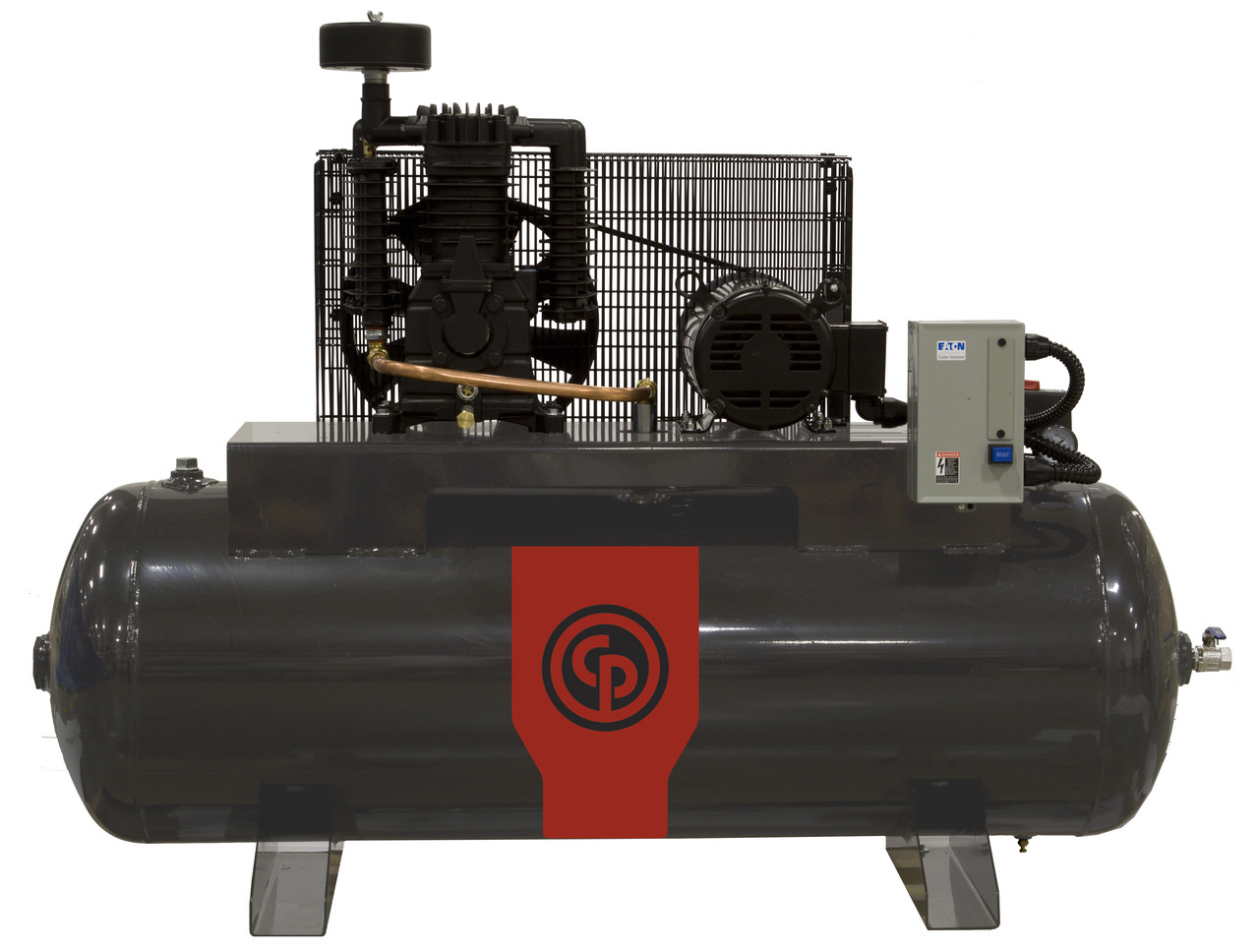 Chicago Pneumatic RCP-7581HS 7.5 HP 208-230 Volt Single Phase Two Stage 80 Gallon Horizontal Air Compressor