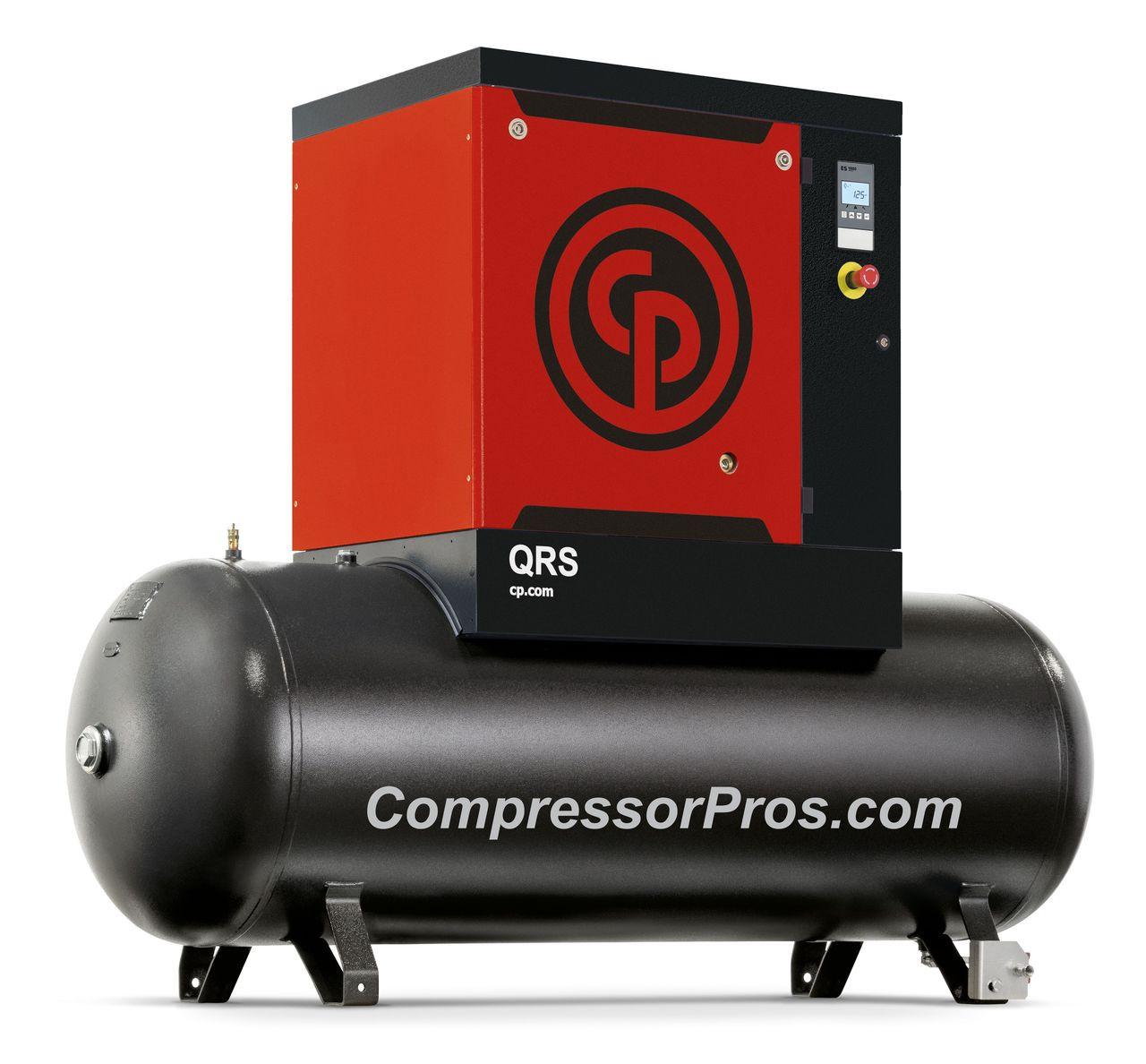 Chicago Pneumatic QRS10HP 150 10 HP 150 psi 132 Gallon Rotary Screw Air Compressor