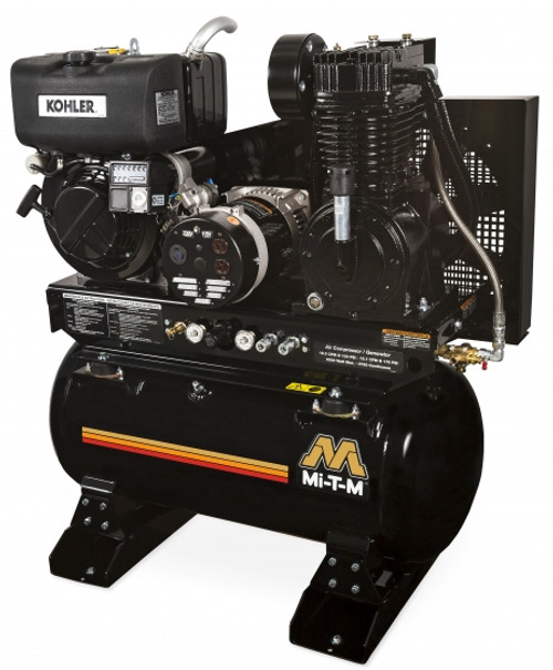 Mi-T-M AG2-SKD9-30M 9.1 HP Diesel Air Compressor/Generator Combo