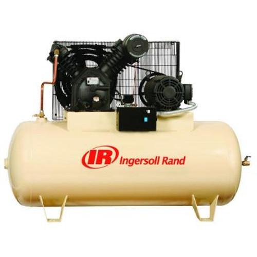 Ingersoll Rand 2545E10-V 10 HP 120 Gallon Horizontal Air Compressor (460 Volt)