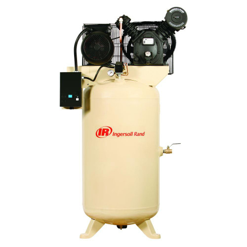 Ingersoll Rand 2475N5-P 5 HP 80 Gallon Premium Vertical Air Compressor (200 Volt Three Phase)