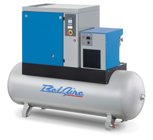 BelAire Model BR20503D 20 HP Rotary Screw Air Compressor 150 psi with Dryer