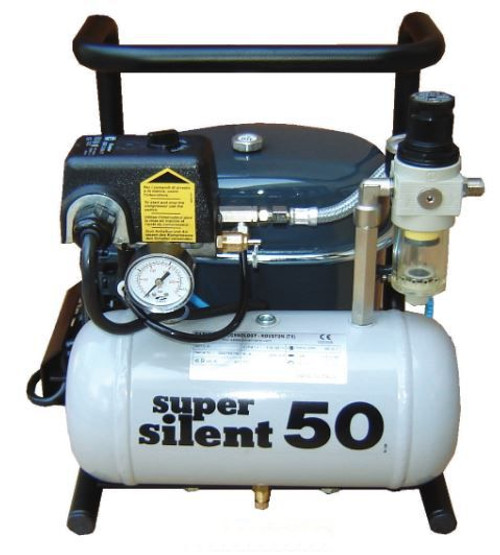 Super Silent 50-TC 1/2 HP Air Compressor 2.15 CFM .9 Gallon Tank