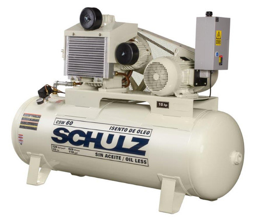 Schulz 10120HW60-3 10 HP Oil Free Air Compressor